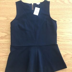 J. Crew Navy Blue sleeveless top.  sz XXS     B13